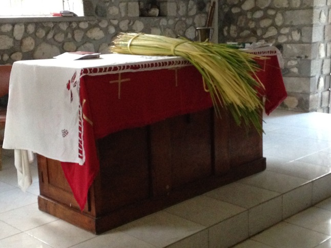 palm Sunday in chapel-HSC